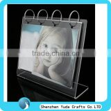 L shape acrylic calendar photo frame plastic cute baby photo frame calendar picture photo frame
