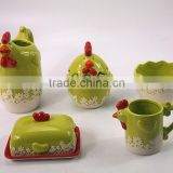 Chicken Shanped Ceramic Bowl Set With Lid Water Pitcher Sugar Bowl Set With Unique Shape Ceramic Coffee Mugs In Tableware Set