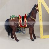 handcraft fur real plastic race horses toys