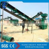 Bulk material handling equipment parts industrial belt conveyor/ material transfer belt conveyor system