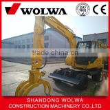 second hand used japan engine suagr cane loader wheel excavator for sale