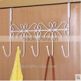 PN Decorative Over the Door 5 Hook Rack Organizer / Hanger Clothes at Office/Home Display Hook