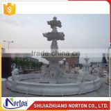 Hand carved dolphin and lion water marble fountain for sale NTMF-010LI