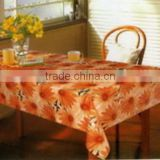 2014 Designed Printed PVC table cover with nonwoven or falannel back & PVC clear, Direct factory/Manufactory supply/industrial