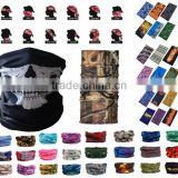 Polyester wholesale multifunctional seamless tube bandana, custom bandana, skull bandana