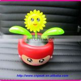 Dancing solar flower with mp3 player