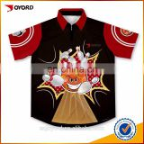 Quick dry wholesale sublimated bowling shirts