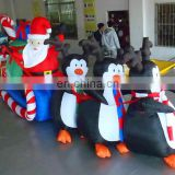 Hot Giant Inflatable Christmas Items, Outdoor Inflatable Christmas Penguin And Santa