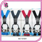 Kids solid colour suspender lovely suspender student suspender