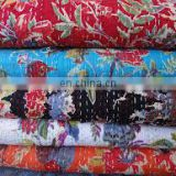 beautiful floral kantha handmade quilt RV6