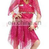 Beautiful cute shiny fabric belly dance costume for kids ET-010