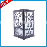 Fashionable Volume Supply Silver Small Metal Glass Candelabra Antique Lanterns Candle Holder