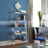Fully assembled home acrylic leaning bookshelf