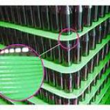 3mm green pp corrugated sheet--- Edge cutting
