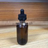 2oz 60ml amber glass bottle with glass dropper for e liquid