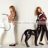 Wholesale white fiberglass animal mannequin cheap dog mannequin manikin G3-W