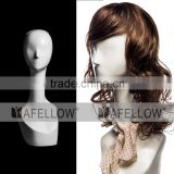 Fiberglass Head Model Abstract head mannequin model adults women display hair mannequins H1106