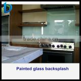 High quality painted glass backsplash