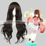 High Quality 65cm Medium Long Curly NO.6 ORIGINAL SOUNDTRACK wig Inukashi Dark Brown wig Synthetic Anime Wig Cosplay Hair Wigs