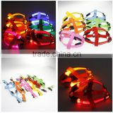 Chest strap LED silk mesh light chest strap large dog harness pets breast strap