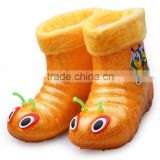 Children with Miantao in barreled boots Child boots children cartoon transparent PVC waterproof rain boot