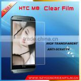 Best selling screen protector pet film mobile phone screen protector for htc clear screen protector for HTC One M8