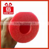 Pe foaming pipe line oem and odm epe foam bag big round trampoline with safety net