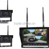 "100% Factory Digital Wireless Reversing Type 4 Channel 2.4GHz Digital Wireless 9"" Back Up Monitor and 2 Cameras for All Vehicles"