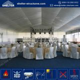 Durable maximum wind loading 100km/h(0.5kn/sqm) marquee tent 12x12 in indian decoration with lining polyester fabric