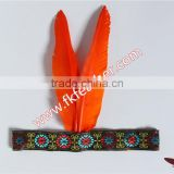 Sample Design Indian Feather Headdress Goose Feather Indian Feather Headdress For Halloween And Carnival Party Supplies