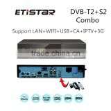 1080p full hd digital dvb-s2 dvb-t2 combo Set top box satellite receiver Supporting USB WiFi IPTV