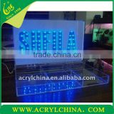 2013 2011 Lastest Acrylic Led Display Plexiglass Led Advertising Display