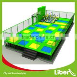 laser light Park used commercial trampoline park with cube foam pit