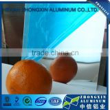 solar reflective mirror aluminum sheet used for lights/Blue film cladding aluminum sheet