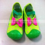 Hot sale color block Egypt cotton low cut cheap wholesale socks with rubber sole and bowknot