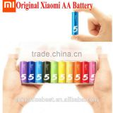 Original Xiaomi AA Battery Rainbow 5th Batteries Disposable Alkaline Battery Core No Mercury and Cadmium For Toys Remote