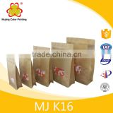Eight edge-sealing window kraft paper valve bag / brown paper bags without printed / plain kraft paper bags