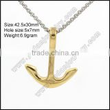wholesale 18k gold anchor pendant necklaces                                                                                                         Supplier's Choice