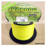 Zhejiang Outdoor Fishing Tackle Japanese Longline PE Fishing Braided Line 4 Strands 20lb 1500m Fluo