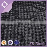 The king of quantity PU leather hand cutting embroidered lace fabric