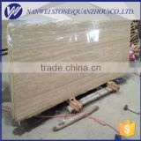 beige travertine marblle tiles for shopping building,metro station wall cladding tiles