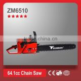 power tools 64.1cc 3.3kW 2 stroke ZM6510 wood harvester saw force air cooling single cylinder