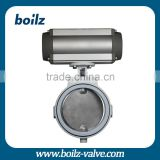 Stainless steel pneumatic actuator butterfly valve pneumatic actuators control butterfly valve