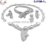 CJ1186 2016 African new arrival fashion design hand-weaved high quality Jewelry set necklace ,earing , braceket for party