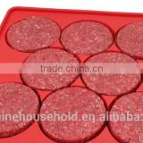 High Quality Round Silicone Burger press Mold 8 in 1 Circular Compartments for Patties, Cookies, Hash Browns, Cutlets