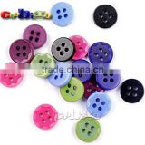 18L(11.5mm) Resin Buttons Laser Figure 4 Holes Sewing Craft For Bag Shoe Garment Toy #FLN015(Mix-s)