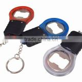 bulb shape Aluminum Bottle Opener keychain with light