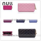 Wholesale women clutches rfid blocking genuine leather cell phone wallet