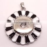 Attractive modern pendant light with snap button alloy mermaid pendant necklace