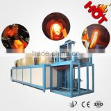 MF induction heater steel billet, copper rod heating furnace